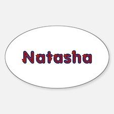 Natasha Red Caps Oval Decal