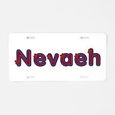 Nevaeh Red Caps Aluminum License Plate