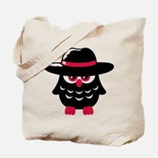 owl_with_hat Tote Bag