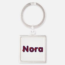 Nora Red Caps Square Keychain