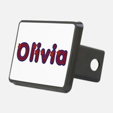 Olivia Red Caps Hitch Cover