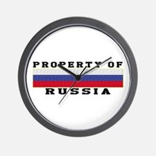 Property Of Russia Wall Clock