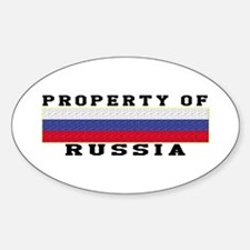 Property Of Russia Sticker (Oval)