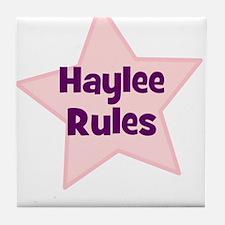 Haylee Rules Tile Coaster