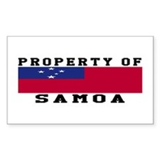 Property Of Samoa Decal