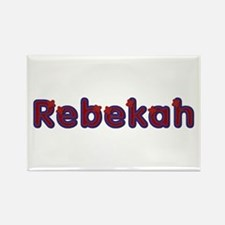 Rebekah Red Caps Rectangle Magnet