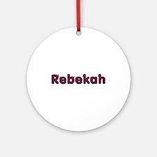 Rebekah Red Caps Round Ornament