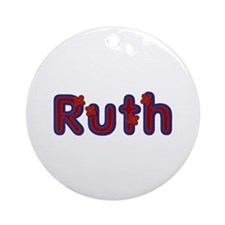 Ruth Red Caps Round Ornament