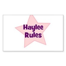 Haylee Rules Rectangle Decal