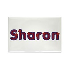 Sharon Red Caps Rectangle Magnet