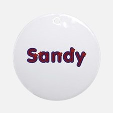 Sandy Red Caps Round Ornament