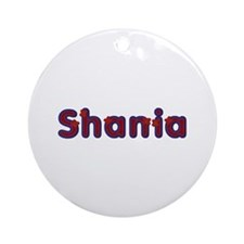 Shania Red Caps Round Ornament
