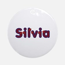 Silvia Red Caps Round Ornament