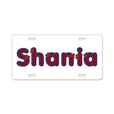 Shania Red Caps Aluminum License Plate