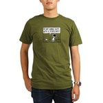 Skater Bird Organic Men's T-Shirt (dark)