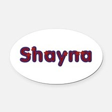 Shayna Red Caps Oval Car Magnet