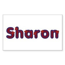 Sharon Red Caps Rectangle Decal