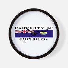 Property Of Saint Helena Wall Clock