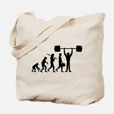 weightlifting_evolution Tote Bag