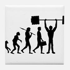 weightlifting_evolution Tile Coaster