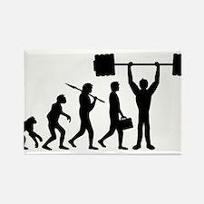 weightlifting_evolution Rectangle Magnet