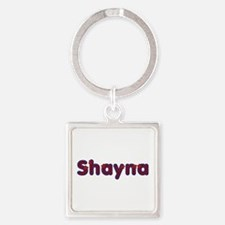 Shayna Red Caps Square Keychain