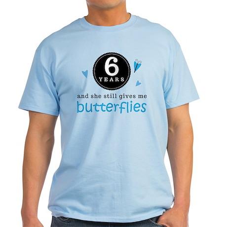 6 Year Anniversary Butterfly Light T-Shirt