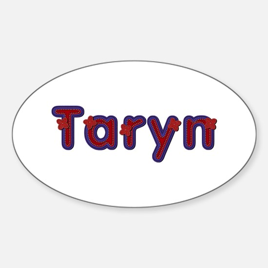Taryn Red Caps Oval Decal