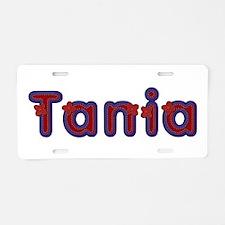 Tania Red Caps Aluminum License Plate
