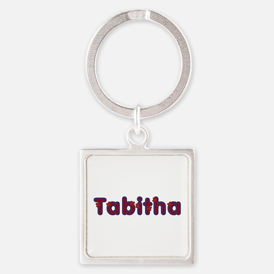 Tabitha Red Caps Square Keychain