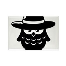 owl_with_hat Rectangle Magnet