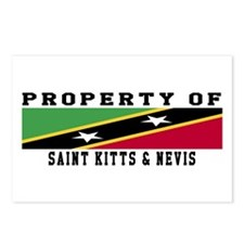 Property Of Saint Kitts Nevis Postcards (Package o