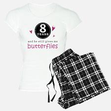 8th Anniversary Butterflies Pajamas