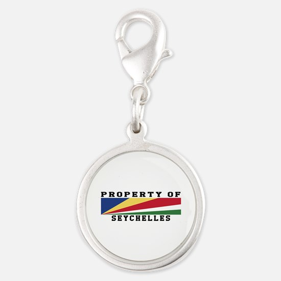 Property Of Seychelles Silver Round Charm