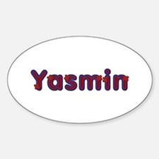 Yasmin Red Caps Oval Decal