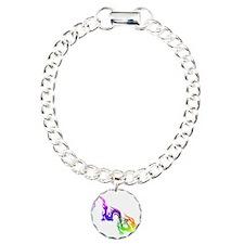 Rainbow Spiral Charm Bracelet, One Charm