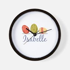 Easter Egg Isabelle Wall Clock