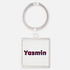 Yasmin Red Caps Square Keychain