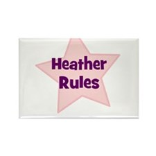 Heather Rules Rectangle Magnet (10 pack)