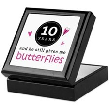 10th Anniversary Butterflies Keepsake Box