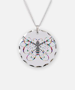 Rainbow Butterfly Necklace