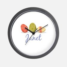 Easter Egg Janet Wall Clock
