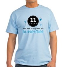 11 Year Anniversary Butterfly T-Shirt