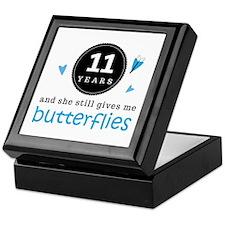 11 Year Anniversary Butterfly Keepsake Box