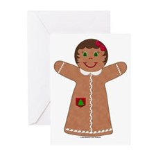 Gingerbread Girl Tree Greeting Cards (Pk of 10)