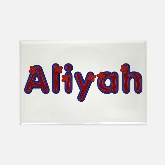 Aliyah Red Caps Rectangle Magnet
