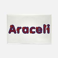 Araceli Red Caps Rectangle Magnet