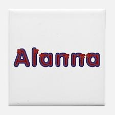 Alanna Red Caps Tile Coaster