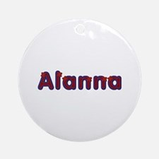 Alanna Red Caps Round Ornament