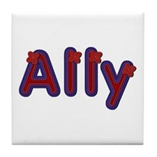 Ally Red Caps Tile Coaster